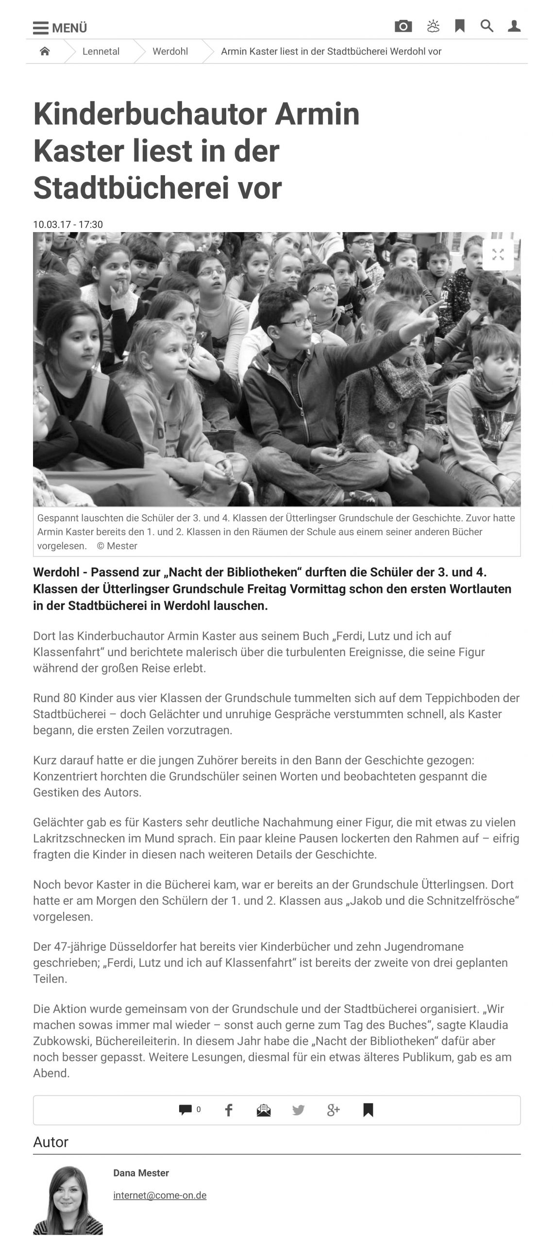 8. 10.03.17 Armin Kaster liest in der Stadtbücherei Werdohl vor _ Werdohl